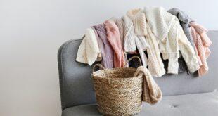 Wollwäsche mit Wäschekorb