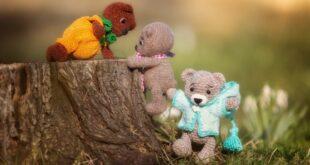 Teddybär häkeln - drei gehäkelte Bären