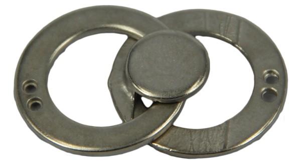 Metallschließe silber