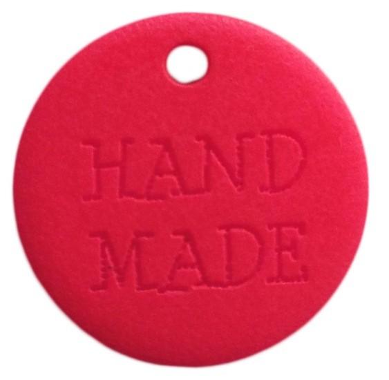 """Aufnäher """"Hand Made"""" NEON pink"""