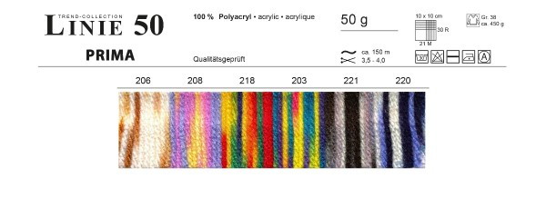 LINIE 50 PRIMA-COLOR von ONline Wolle