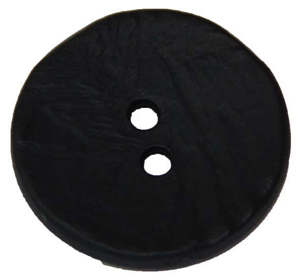 Knopf 2-Loch 30 mm schwarz