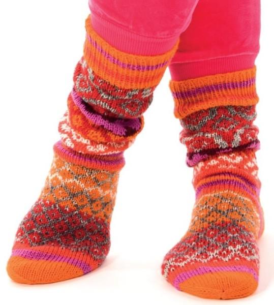 Strickanleitung Socken mit Jacquardstreifen Linie 12 Street