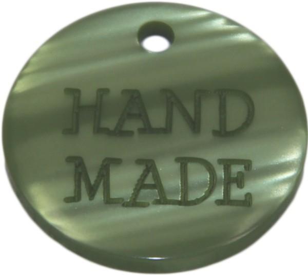 Aufnäher Hand Made grün