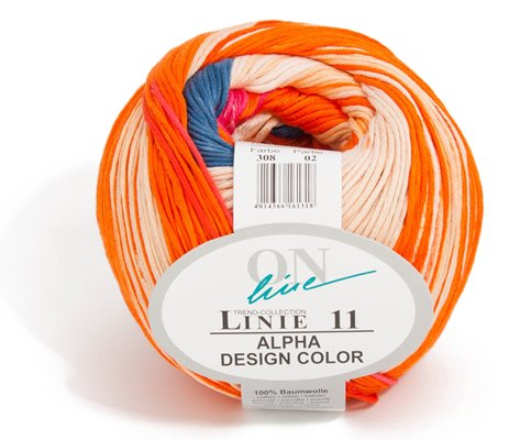 ONline  Linie 11 Alpha Design Color 100 g Knäuel