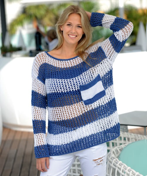 Modellpaket Netzpullover LINIE 341 SANDY BIG 4641