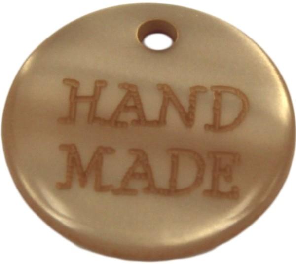 Aufnäher Hand Made braun
