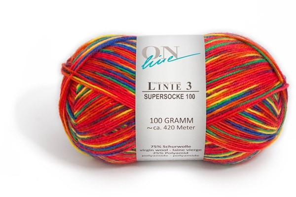 Sockenwolle Supersocke 100 Linie 3 Color