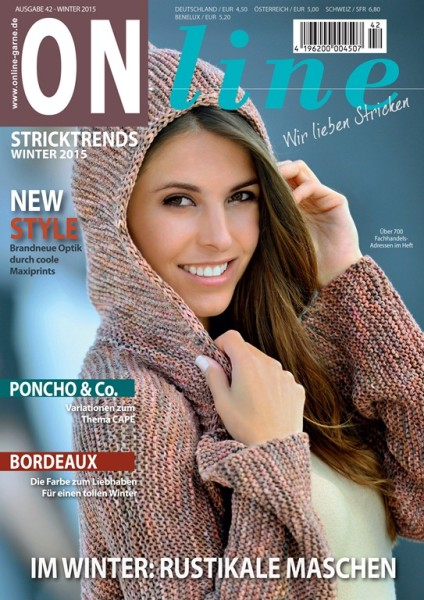 Strickheft Stricktrends Winter 2015 Von ONline Wolle