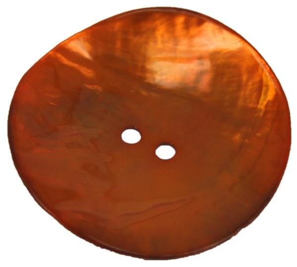 Perlmuttknopf 2-Loch 23 mm orange