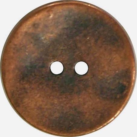Metallknopf 28 mm bronze